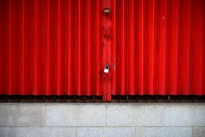 abstract texture background of red galvanized wall
